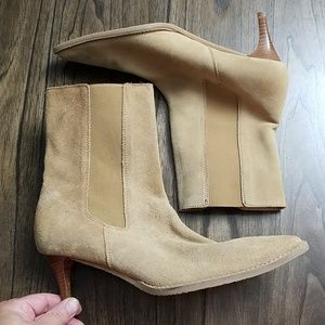 BANANA REPUBLIC WOMENS SUEDE LEATHER BOOTS 8.5